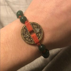 Jewelry - Coin and Jade bracelet